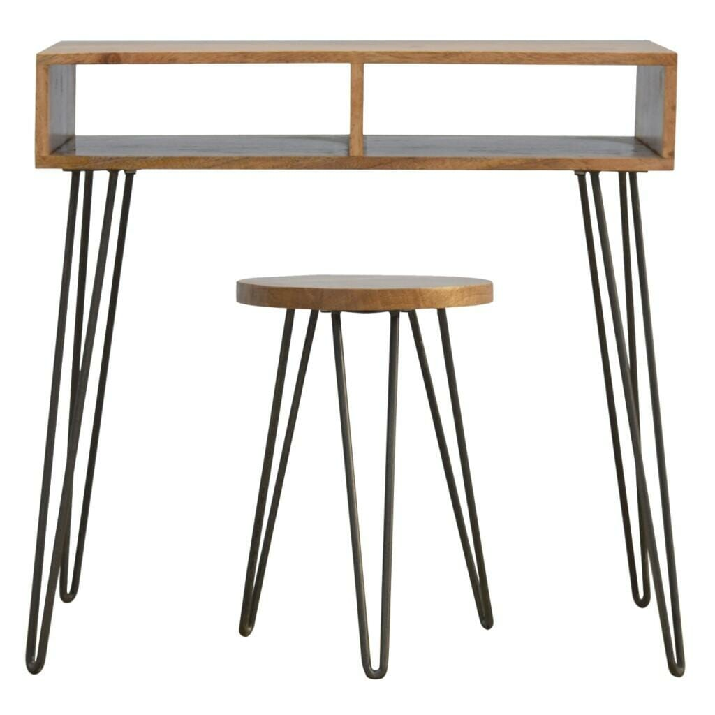 Writing Desk With Stool In Iron