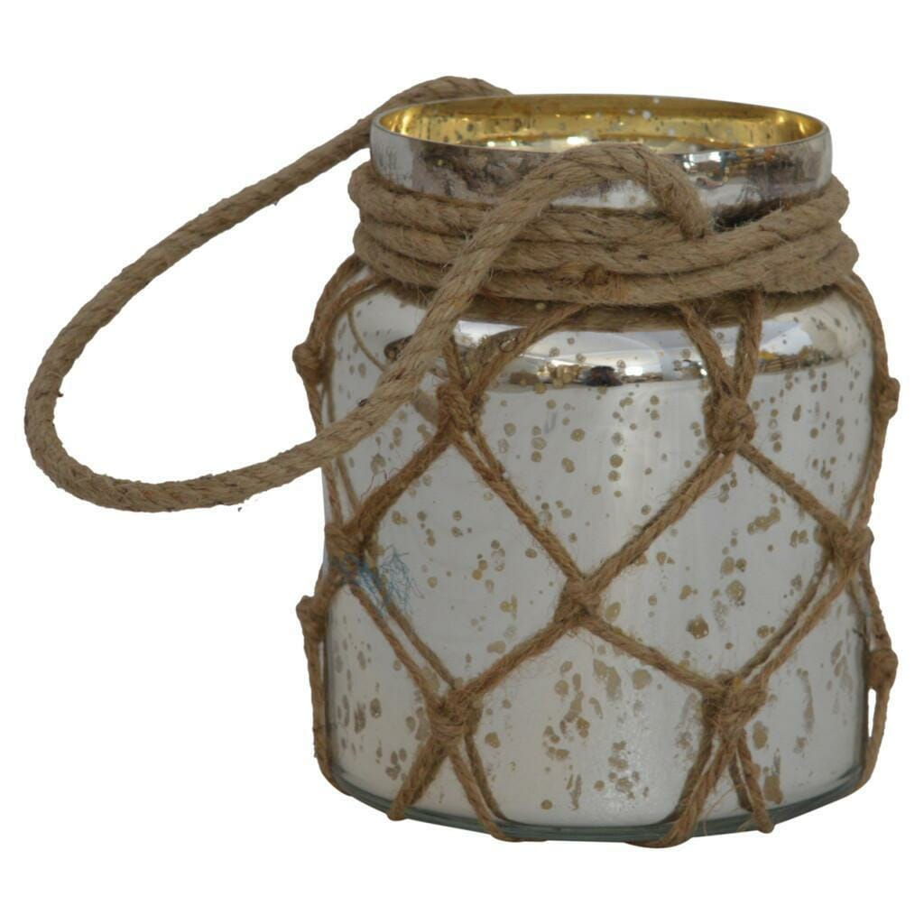 Glass Jar Lattern With Rope