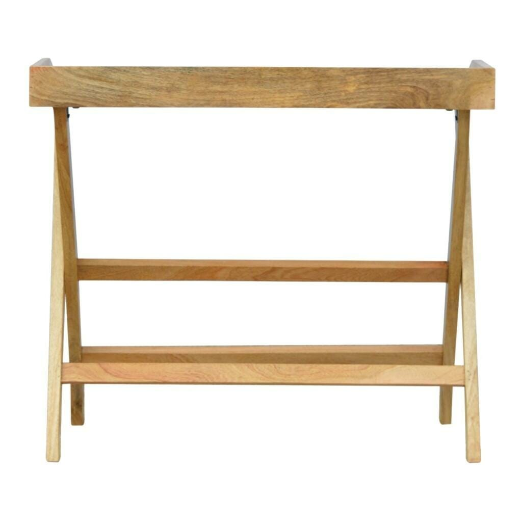Butler Style Writing Desk with Foldable Legs