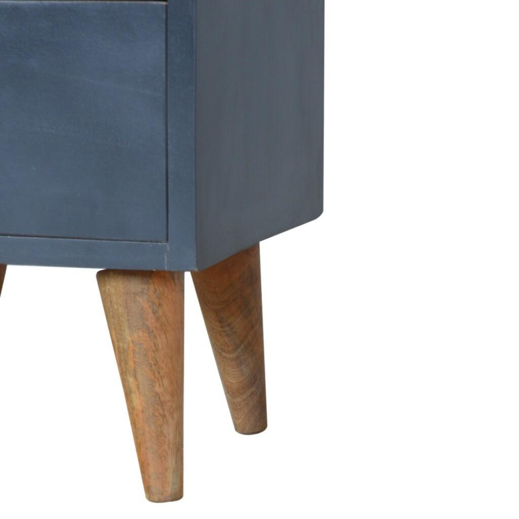 Midnight Blue Hand Painted Bedside