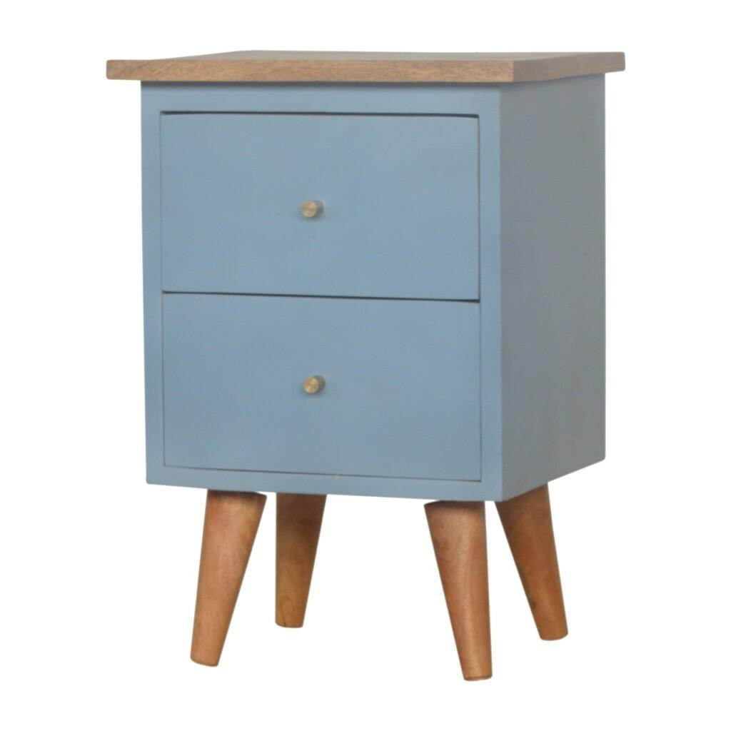 Blue Hand Painted Bedside