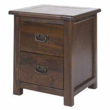 Boston Pine 2 Drawer Bedside Cabinet