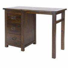 Boston Pine Single Pedestal Dressing Table