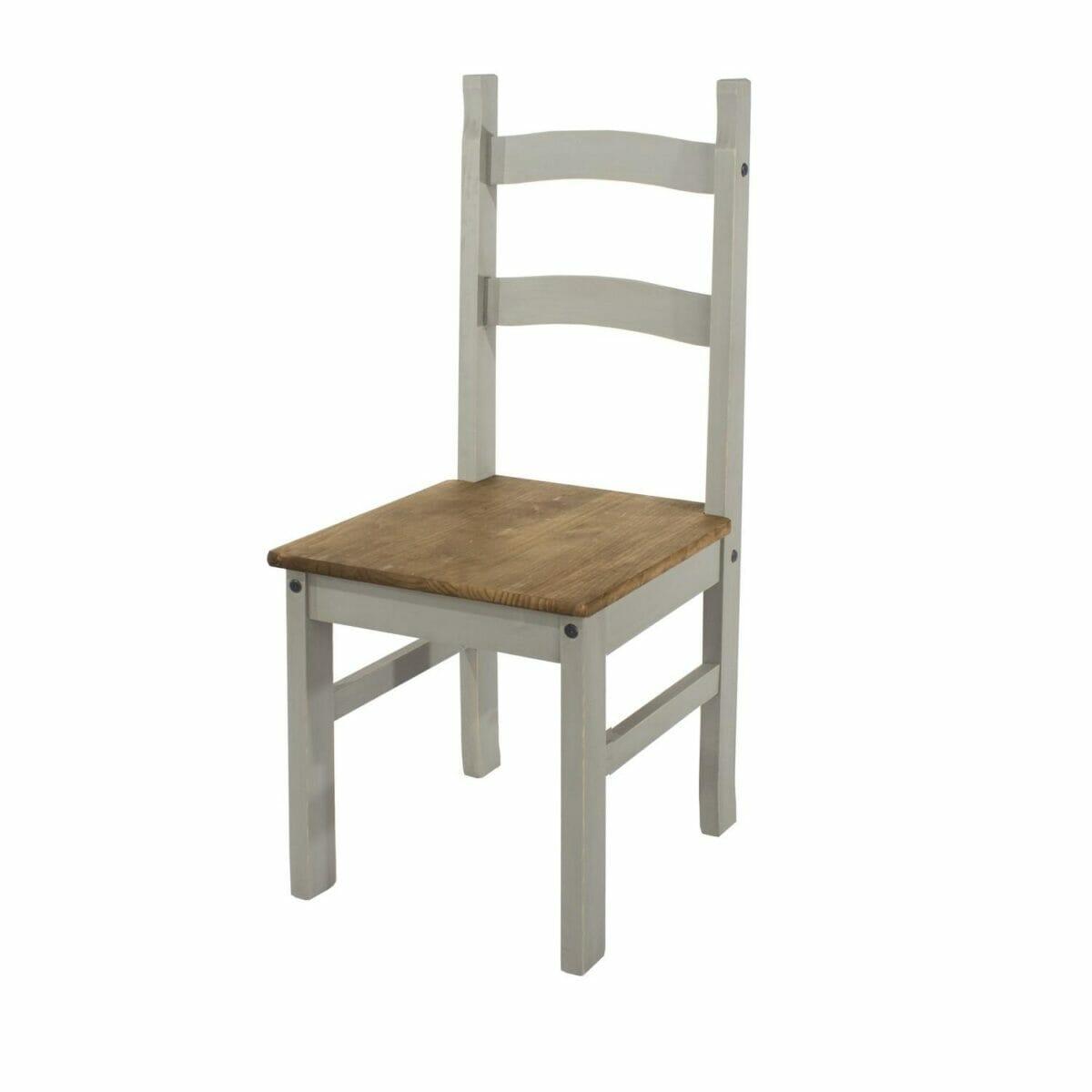 Corona Grey Pine Solid Pine Chairs (Pair)