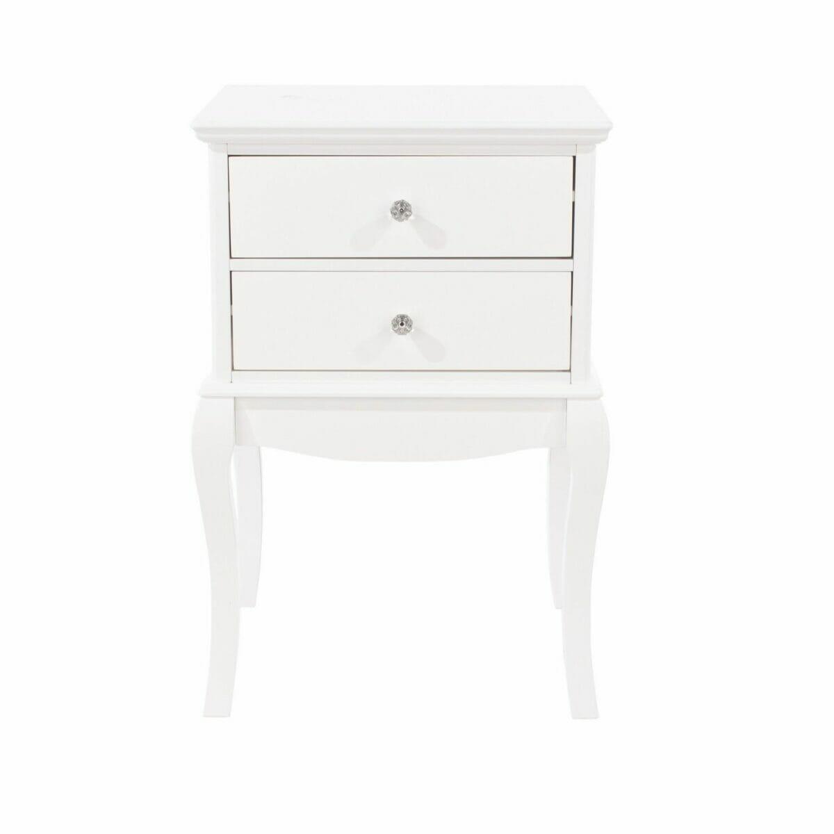 Options Mdf Lyon, 2 Drawer Bedside Cabinet