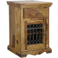 Jali Bedside Table Cabinet | Right Side
