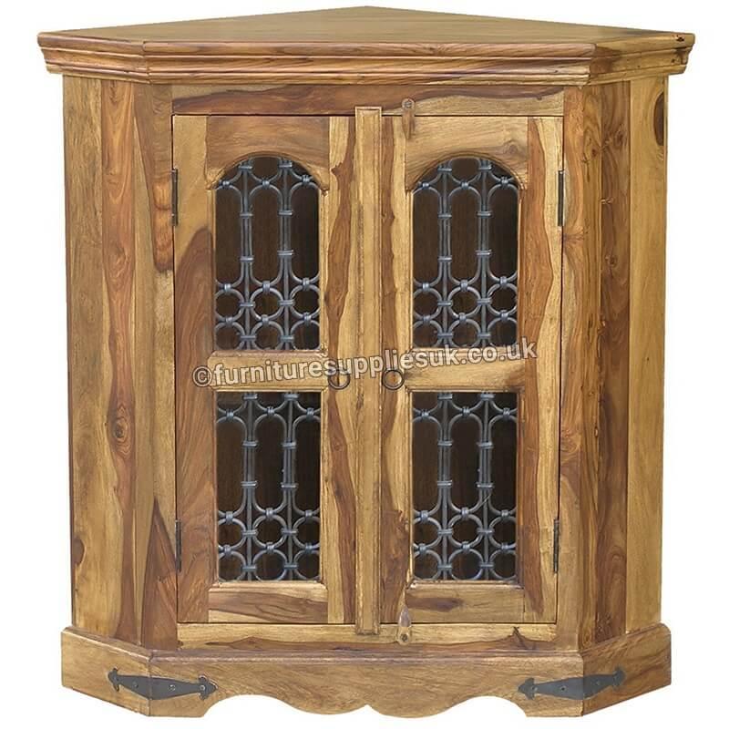 Jali Corner Cabinet
