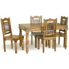 Jali Dining Table 4 Chairs 135cm
