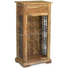 Jali Wine Rack & Drinks Cabinet
