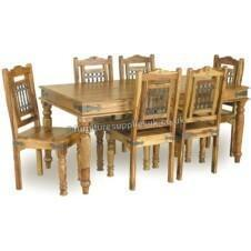 XL Jali Dining Table 8 Chairs 200cm