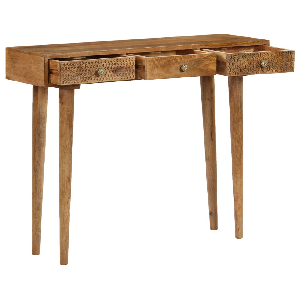 Console Table Solid Mango Wood 102x30x79 cm