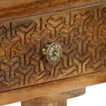 Console Table Solid Mango Wood 102x30x79 cm 6