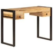 Industrial Desk with 2 Drawers 110x50x77 cm Solid Mango Wood