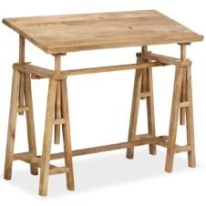 Drafting Table Solid Mango Wood 116x50x76 cm