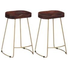 Gavin Bar Stools 2 pcs 45x40x62 cm Solid Mango Wood