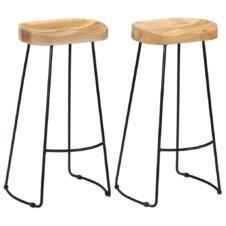 Gavin Bar Stools 2 pcs 45x40x78 cm Solid Mango Wood