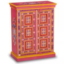 Sideboard Solid Mango Wood Pink Hand Painted