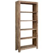 5-Tier Bookcase 80x30x180 cm Solid Acacia Wood