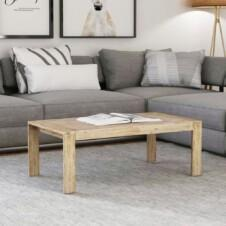 Coffee Table Solid Brushed Acacia Wood 110x60x40 cm