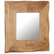 Cosmetic Mirror 50x50 cm Solid Acacia Wood