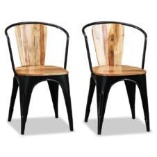 Dining Chairs 2 pcs Solid Acacia Wood