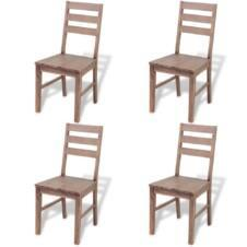 Dining Chairs 4 pcs Solid Acacia Wood 42x49x90 cm