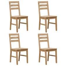 Dining Chairs 4 pcs Solid Acacia Wood