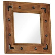 Mirror Solid Acacia Wood 50x50 cm
