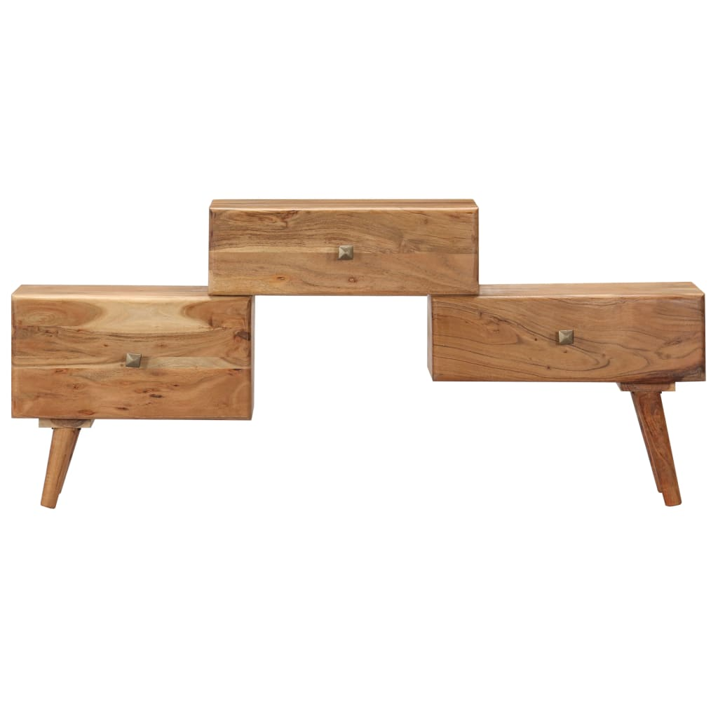 TV Cabinet 108x30x49 cm Solid Acacia Wood