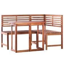 2 Piece Bistro Set Solid Acacia Wood
