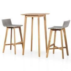 Solid Acacia Wood 3 Piece Bistro Set.
