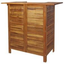 Bar Table Solid Acacia Wood 110x50x105 cm