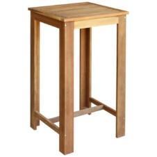 Bar Table Solid Acacia Wood 60x60x105 cm