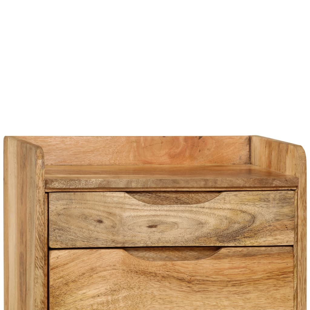 Bedside Cabinet Solid Mango Wood 40x30x59.5 cm