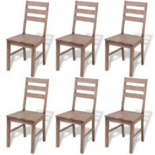 Dining Chairs 6 pcs Solid Acacia Wood 42x49x90 cm