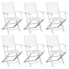 Dining Chairs 6 pcs Solid Acacia Wood White