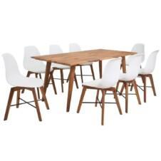 Dining Set 9 Pieces White