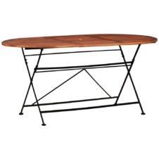 Garden Table 160x85x74 cm Solid Acacia Wood Oval