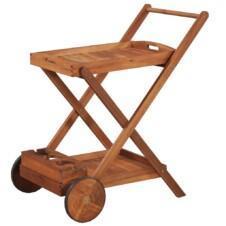 Tea Trolley Solid Acacia Wood