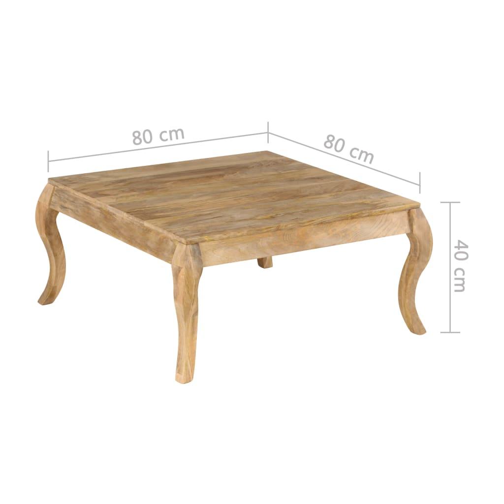 Coffee Table 80x80x40 cm Solid Mango Wood
