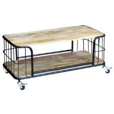Coffee Table Solid Mango Wood 100x50x35 cm