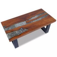 Coffee Table Teak Resin 100x50 cm