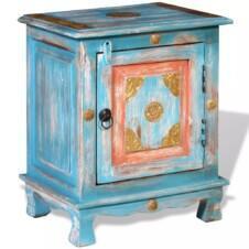 Nightstand Solid Mango Wood Blue