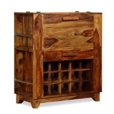 Bar Cabinet Solid Sheesham Wood 85x40x95 cm