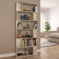 Book Cabinet/Room Divider Sonoma Oak 80x24x192 cm Chipboard