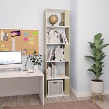 Book Cabinet/Room Divider White and Sonoma Oak 45x24x159 cm Chipboard
