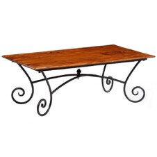 Coffee Table with Curled Legs Solid Sheesham Wood 110x60x39 cm