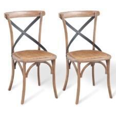 Dining Chairs 2 pcs 48x45x90 cm Solid Oak Wood
