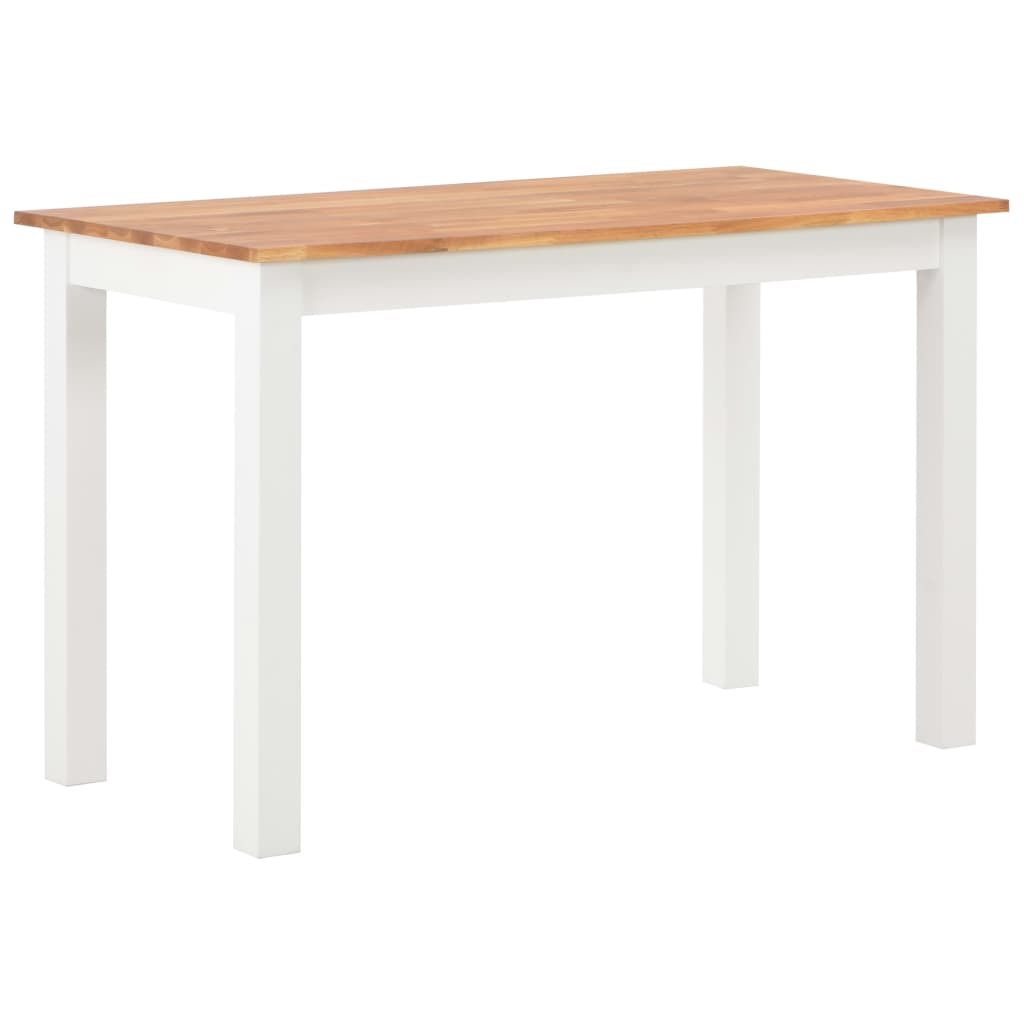 120cm Colonial Painted White Dining Table Solid Oak Wood Top