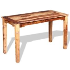 120cm Narrow Dining Table Solid Light Sheesham Wood